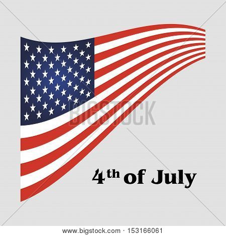 Independence day 4 th july. Vector illustration
