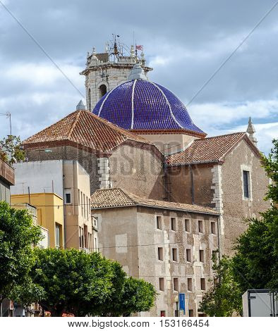 St. Bartholomew's Church Benicarlo Castellon Province Spain. in Baroque style. patron of the city along with the saints Abdon and Senen.
