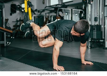 Man's Fitness - Trx Exercising