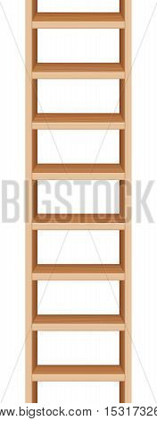 Ladder that can be endlessly extended upwards and downwards. Vector illustration.