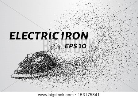 The iron of the particles. Electric iron crumbles into small circles and dots.