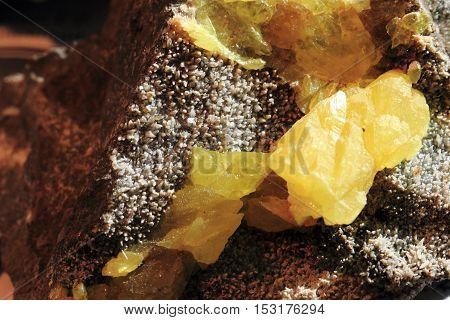 Yellow Sulphur Mineral