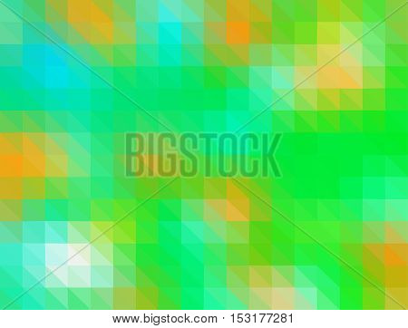 Green color geometric rumpled background. Low poly style gradient illustration. Graphic background.