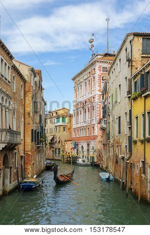 romantic urban landscape of old Venice - Mistress of the Adriatic