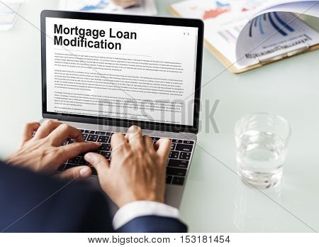 Mortgage Loan Request Modification Document Concept poster