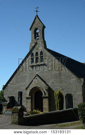 An exterior view of a small church in Dairsie