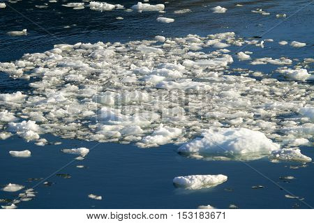 Amalia Glacier - Global Warming - Ice Formations