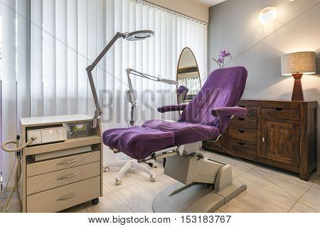 Spa center interior design in wellness center
