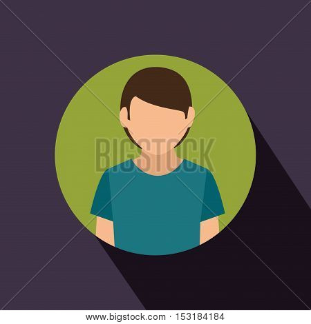 young man avatar isolated icon vector illustration design