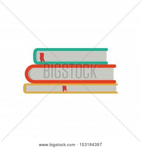 Books icon. literature education and learning theme. Isolated design. Vector illustration