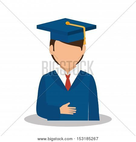 student graduated avatar isolated vector illustration design