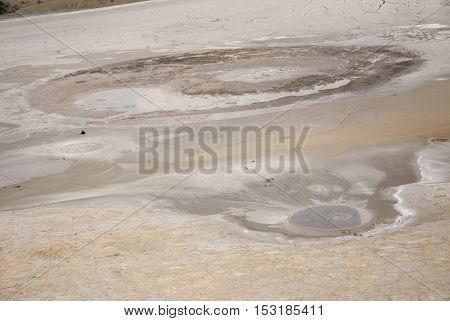 Mud Volcanoes - Texture And Eruption -romania, Buzau, Berca