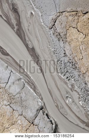 Mud Volcanoes - Texture And Eruption -romania, Buzau, Berca