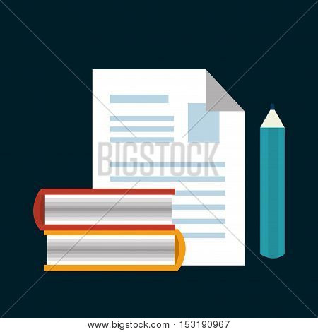 paper with pencil isolated icon vector illustration design