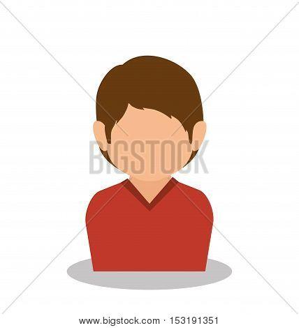 little boy son family member vector illustration design
