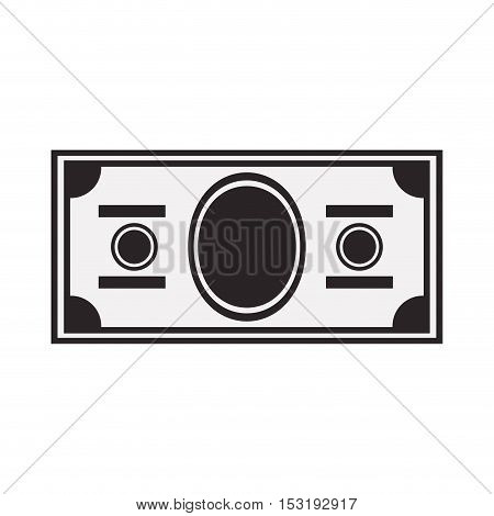 money bill icon silhouette over white background. economy and financial item. vector illustration
