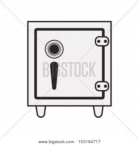 safebox icon. security box over white background. vector illustration