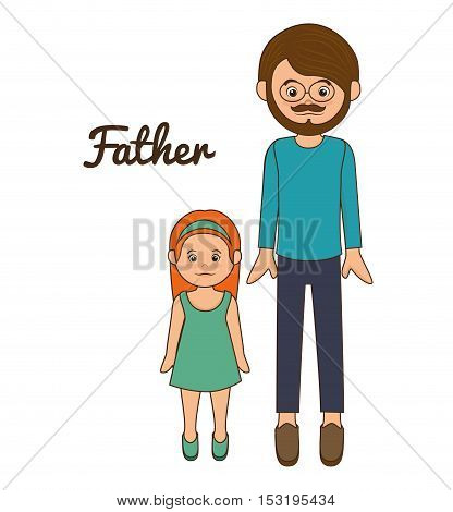 father family memeber avatar vector illustration design