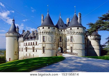 Chaumont-sur-Loire, France, October 9, 2016: The castle Chaumont at Chaumont-sur-Loire in France.