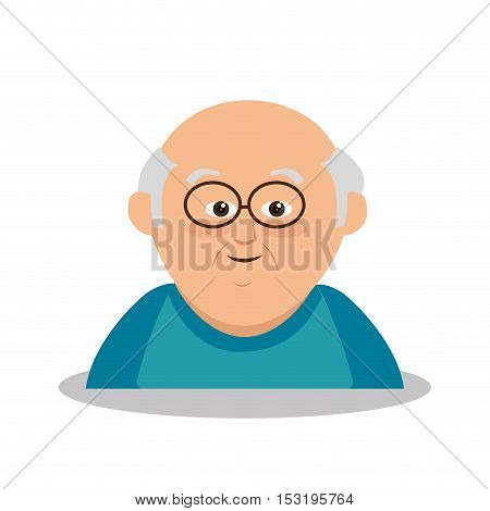 grandfather character member avatar vector illustration design