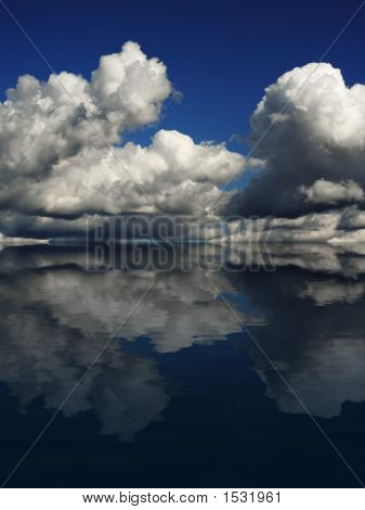 Dramatic Cloudscape With Reflection