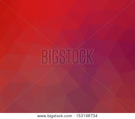 Multicolor of red geometric rumpled background. Low poly style gradient illustration. Graphic background.
