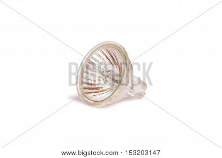 Bright halogen lamp isolated on white background