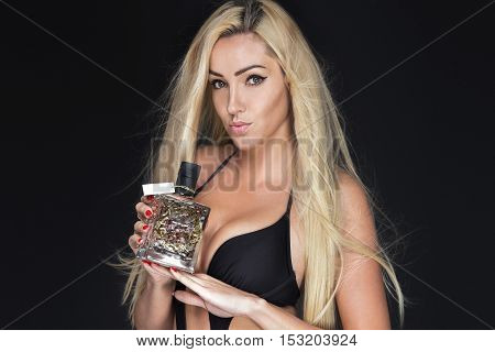 Beautiful Woman With Perfume.