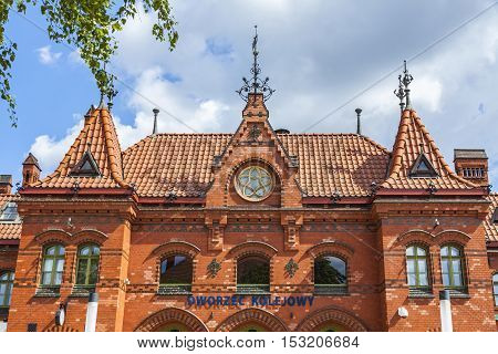Railway Station Building In Malbork, Poland