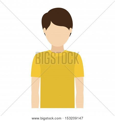 avatar man wearing t shirt over white background. vector illustration