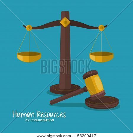 Balance and hammer icon. Law justice legal and judgment theme. Colorful design. Vector illustration