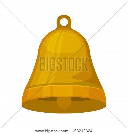 bell musical instrument over white background. vector illustration