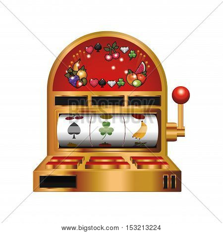 casino machine icon over white background. vector illustration