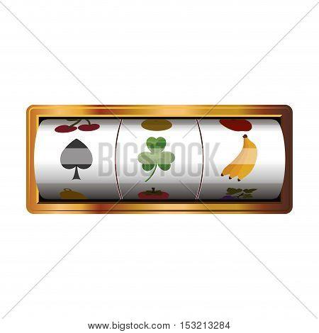 casino game machine over white background. vector illustration