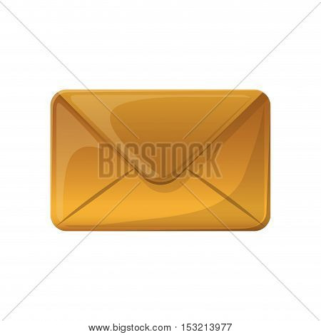 closed envelope mail icon over white background. vector illustration