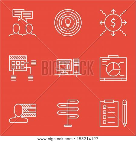 Set Of Project Management Icons On Personal Skills, Discussion And Opportunity Topics. Editable Vect