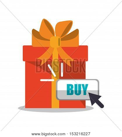 Gift icon. Shopping online ecommerce media and market theme. Colorful design. Vector illustration