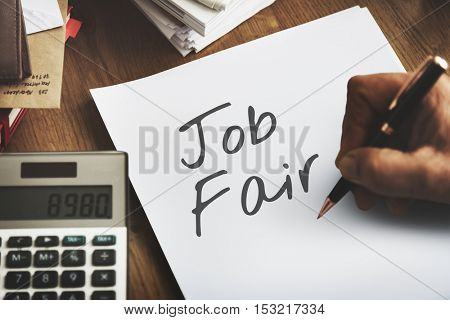Job Fair Activity Employing Hiring Occupation Concept