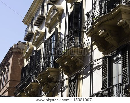 the City of Palermo on sicilia in italy