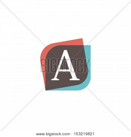 A letter sign retro company symbol vector design