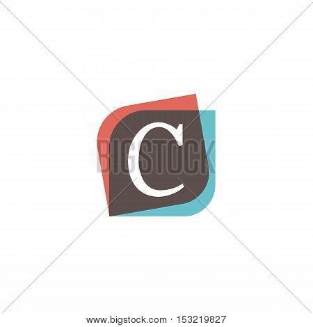 C letter sign retro company symbol vector design