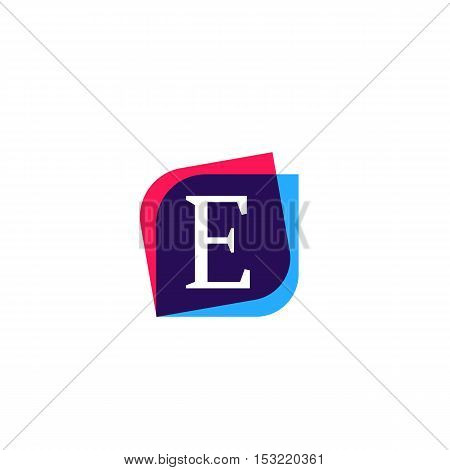 E letter sign company symbol vector design