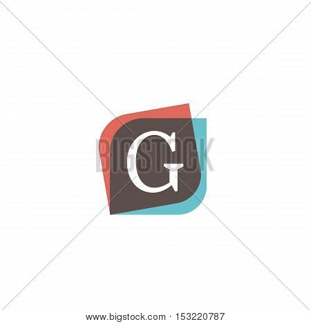 G letter retro sign company symbol vector design