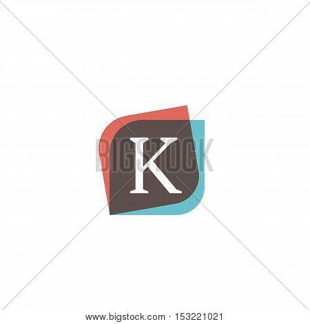 K letter retro sign company symbol vector design