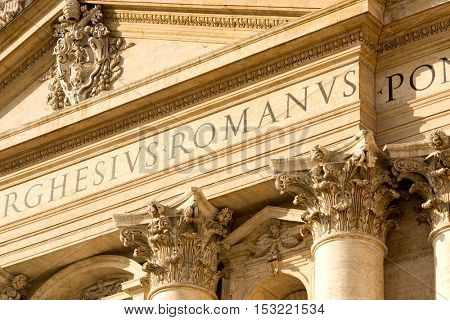 Basilica of Saint Peter (San Pietro) in Vatican, Rome, Italy