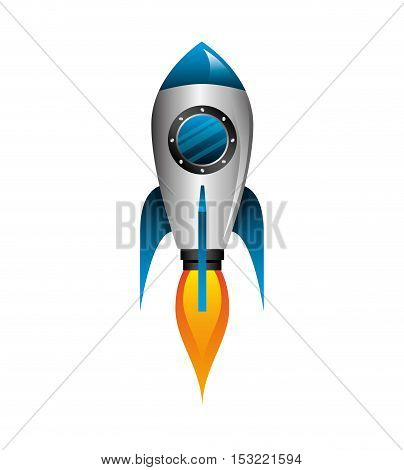 rocket launcher startup isolated icon vector illustration design