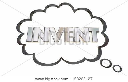 Invent New Product Idea Business Innovation 3d Illustration