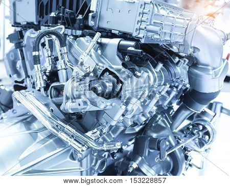 car engine section