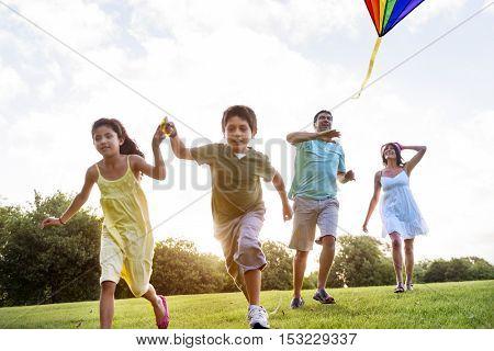 Kite Carefree Activity Summer Joyful Fun Concept