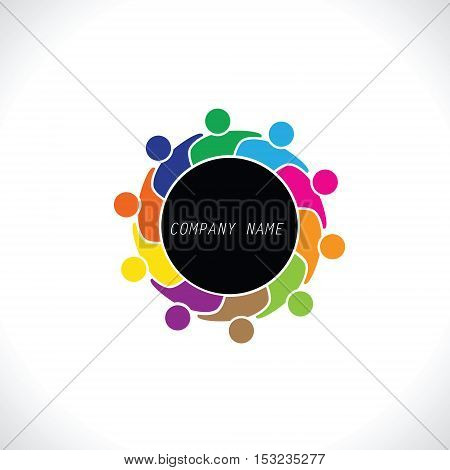 Teamwork Meeting 10. people icon. people friends logo concept vector icon. this icon also represents friendship, partnership cooperation unity,